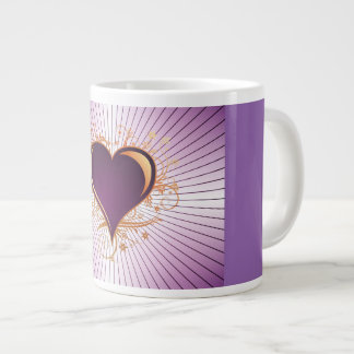 Luxury Purple Heart Jumbo Coffee/Tea Mug