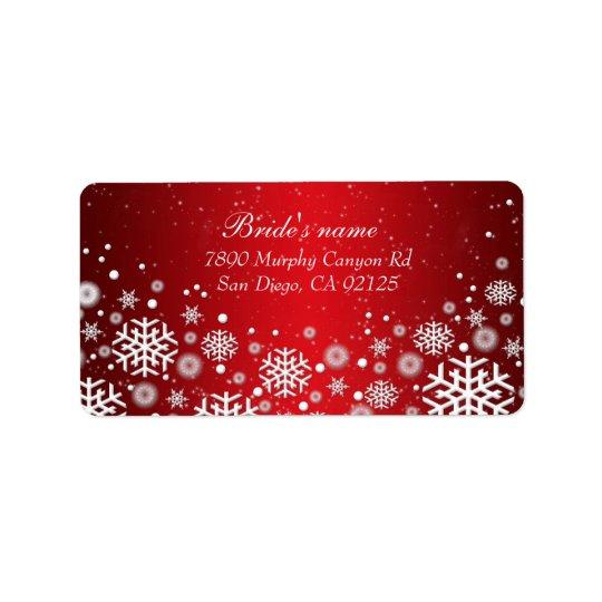 Luxury Red Christmas Spirit Address label