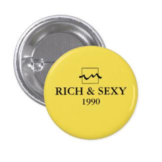 Luxury Rich 1990 3 Cm Round Badge