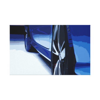 Luxury Rim Details on a Sports Car in Clean Design Canvas Print