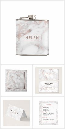 Luxury Rose-Gold Faux Marble