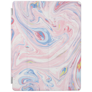 Luxury Rose Pink Marble Pastel Elegant Modern Art iPad Cover