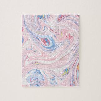 Luxury Rose Pink Marble Pastel Elegant Modern Art Jigsaw Puzzle