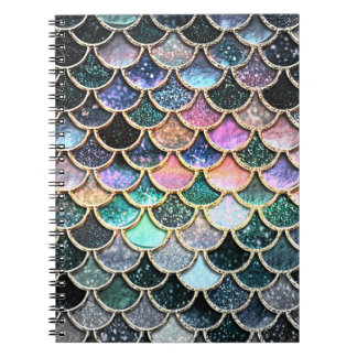 Luxury silver Glitter Mermaid Scales Notebooks