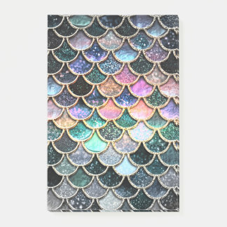Luxury silver Glitter Mermaid Scales Post-it Notes