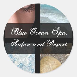 Luxury Spa Resort Theme Round Sticker