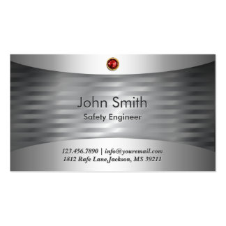 Luxury Steel Safety Engineer Business Card