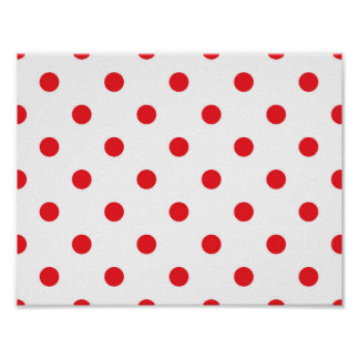 Luxury stylish Poster : Red dots