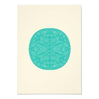 Luxury Summer Wedding Invitation with Blue Mandala