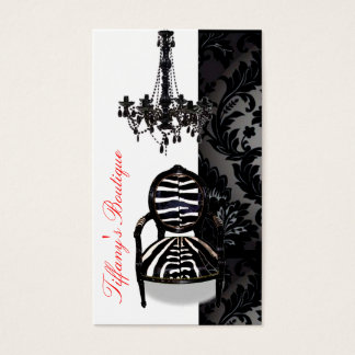 Luxury Vintage Chandelier Boutique Business Cards