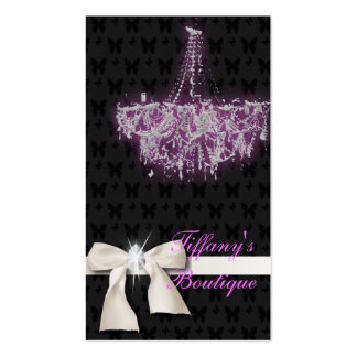 Luxury Vintage Chandelier Boutique Business Cards