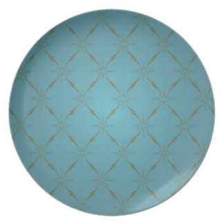 Luxury wallpaper party plates