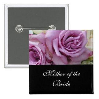 Luxury Wedding Purple Rose Button Buttons