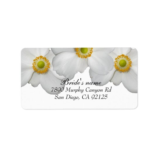 Luxury White Spring Floral Address label
