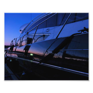 Luxury yacht photo print