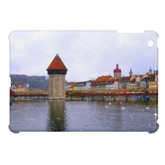 Luzern River and old bridge iPad Mini Covers