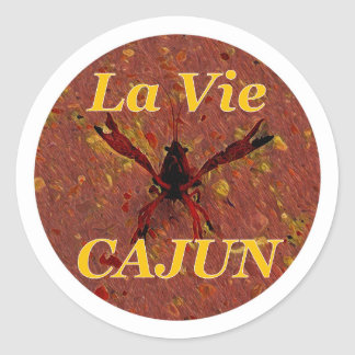 LVC Stickers, Brown Classic Round Sticker