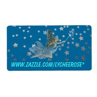 Lycheerose fairy label shipping label
