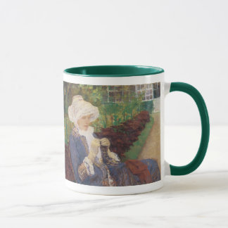 Lydia Crocheting in Garden at Marly, Mary Cassatt Mug