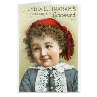 Lydia Pinkhams Vegetable Compound Greeting Card