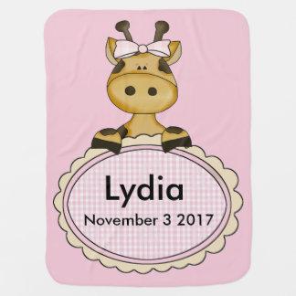 Lydia's Personalized Giraffe Baby Blanket