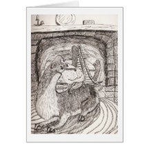 Lydonberry By The Fire Greeting Card