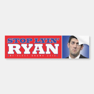 Lyin' Paul Ryan Bumpersticker Bumper Sticker