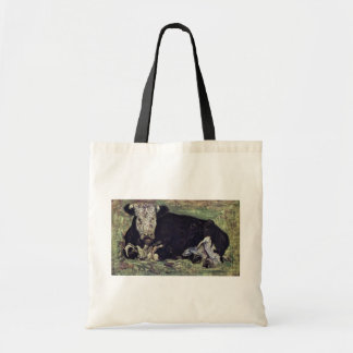 Lying Cow By Vincent Van Gogh Canvas Bag