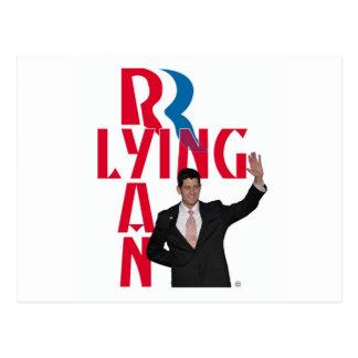 Lying Ryan Postcard