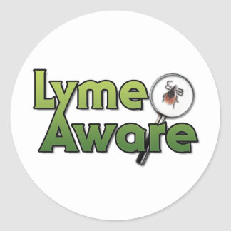 Lyme Aware Gear Classic Round Sticker