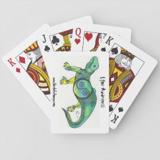 Lyme Awareness Lizard King Playing Cards