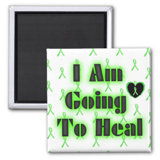 Lyme Disease Affirmation: I am going to heal Square Magnet
