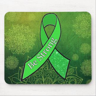 Lyme Disease Awareness Be Strong Ribbon Mouse Pad