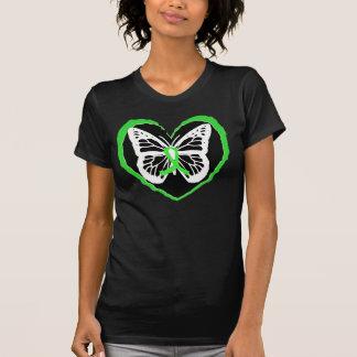 Lyme Disease Awareness Butterfly Lyme Ribbon Heart T-Shirt