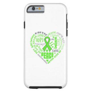 Lyme Disease Awareness Heart Words Tough iPhone 6 Case