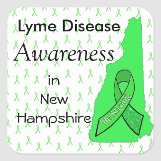 Lyme Disease Awareness in New Hampshire Sticker