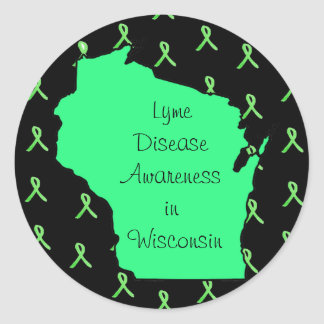 Lyme Disease Awareness in Wisconsin Stickers