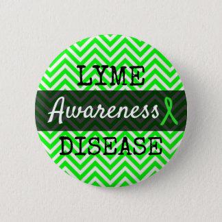 Lyme Disease Awareness Ribbon Button