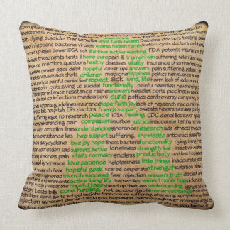 Lyme Disease Awareness Ribbon Pillow