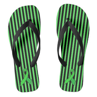 Lyme Disease Awareness Ribbon Striped Sandals