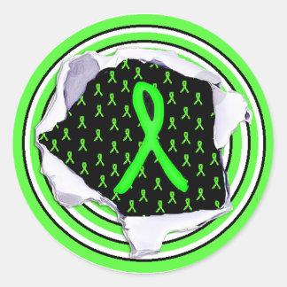 Lyme Disease Awareness Ribbons Stickers