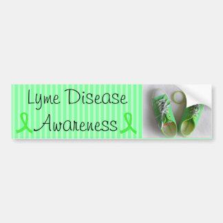 Lyme Disease Awareness Shoes and Bracelet Bumper Bumper Sticker