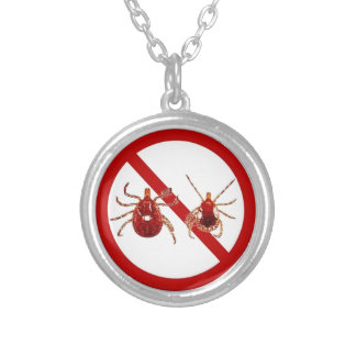 LYME DISEASE AWARENESS ! SILVER PLATED NECKLACE