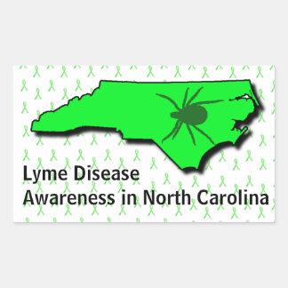 Lyme Disease Awareness Sticker in North Carolina