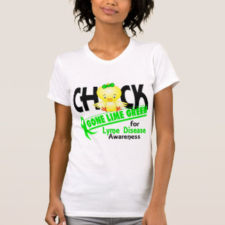 Lyme Disease Chick Gone Lime Green 2 Shirt