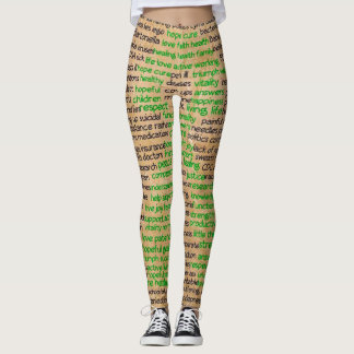 Lyme Disease Feelings Poster, Denied, Ignored, Rep Leggings