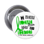 Lyme Disease I Wear Lime Green For My Sister 37 Button
