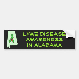 Lyme Disease in Alabama Bumper Sticker