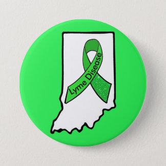 Lyme Disease in Indiana Awareness Ribbon Button