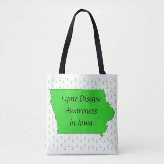 Lyme Disease in Iowa Awareness Tote Bag